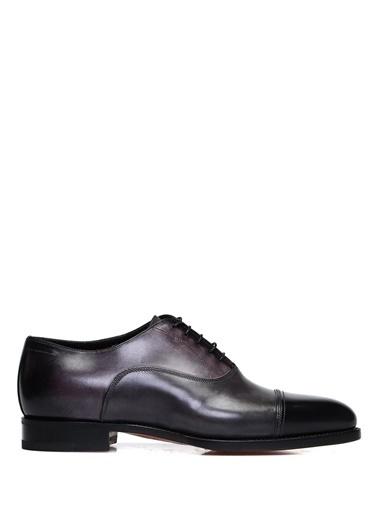 Santoni %100 Deri Bağcıklı Klasik Ayakkabı Gri